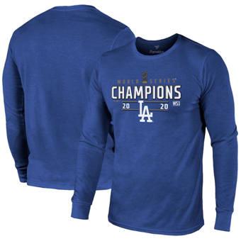 Men's Los Angeles Dodgers 2020 World Series Champions Locker Room Long Sleeve T-Shirt Royal