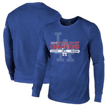 Men's Los Angeles Dodgers 2020 World Series Champions Masterful Long Sleeve T-Shirt Royal