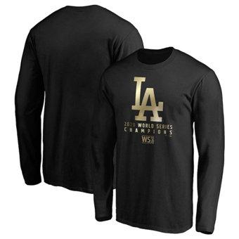 Men's Los Angeles Dodgers 2020 World Series Champions Parade Long Sleeve T-Shirt Black