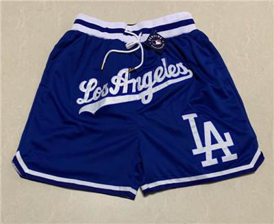 Men's Los Angeles Dodgers Hardwood Classics Stitched Baseball Short 2