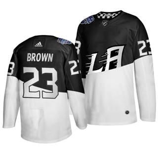 Men's Los Angeles Kings #23 Dustin Brown 2020 Stadium Series White Black Stitched Hockey Jersey