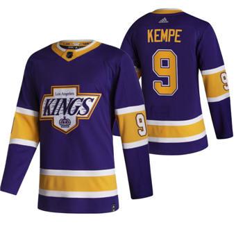Men's Los Angeles Kings #9 Adrian Kempe Black 2020-21 Reverse Retro Alternate Hockey Jersey