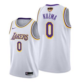 Men's Los Angeles Lakers #0 Kyle Kuzma White 2020 Finals Bound Stitched Jersey