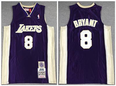 Men's Los Angeles Lakers #8 Kobe Bryant Purple Stitched Basketball Jersey