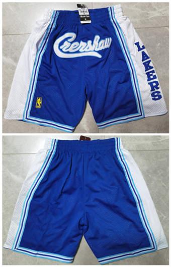 Men's Los Angeles Lakers Blue Basketball Shorts (Run Small)
