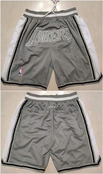 Men's Los Angeles Lakers Gray Basketball Shorts (Run Small)