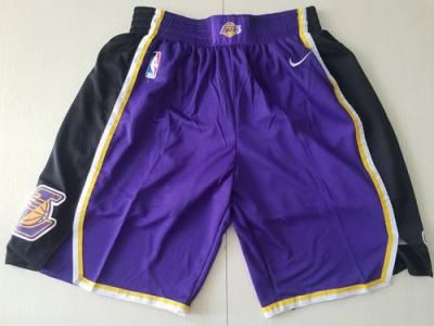 Men's Los Angeles Lakers  Purple Black Swingman Performance Shorts