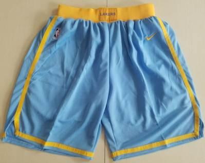 Men's Los Angeles Lakers  Royal Blue Hardwood Classics Swingman Performance Shorts