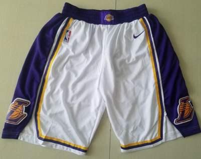 Men's Los Angeles Lakers  White Association Edition Swingman Performance Shorts
