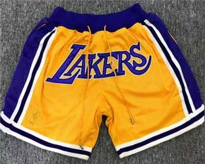 Men's Los Angeles Lakers  Yellow City Swingman Basketball Shorts