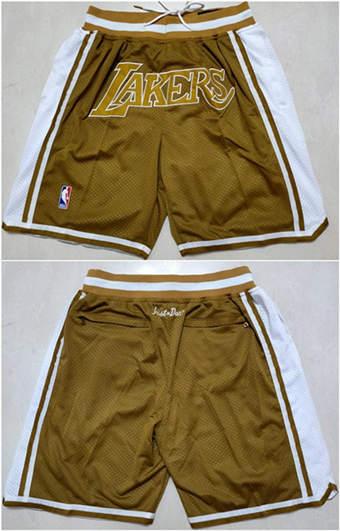 Men's Los Angeles Lakers Tawny Basketball Shorts (Run Small)