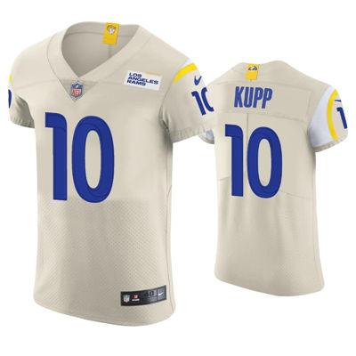 Men's Los Angeles Rams #10 Cooper Kupp 2021 Cream Vapor Elite Jersey