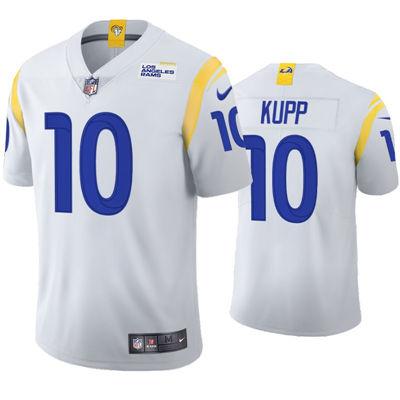 Men's Los Angeles Rams #10 Cooper Kupp 2021 Vapor Limited Alternate Jersey White