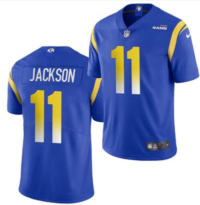 Men's Los Angeles Rams #11 DeSean Jackson 2020 Blue Vapor Untouchable Limited Stitched Football Jersey