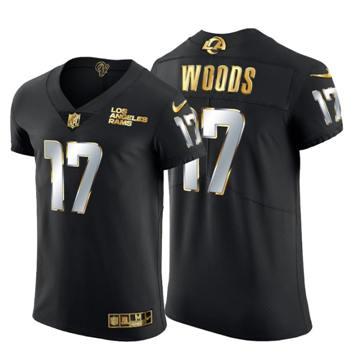 Men's Los Angeles Rams #17 Robert Woods Black Edition Vapor Untouchable Elite Football Jersey