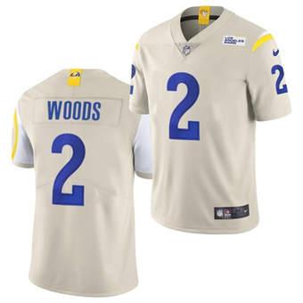 Men's Los Angeles Rams #2 Robert Woods Bone Vapor Untouchable Limited Stitched Football Jersey