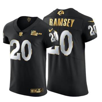 Men's Los Angeles Rams #20 Jalen Ramsey Black Edition Vapor Untouchable Elite Football Jersey