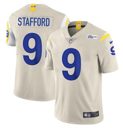 Men's Los Angeles Rams #9 Matthew Stafford Bone Stitched Football Jersey