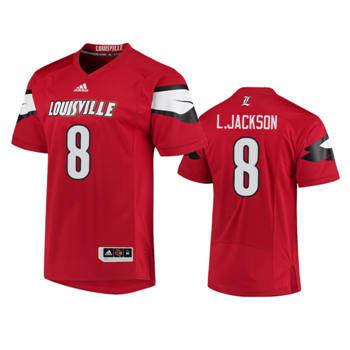 Men's Louisville Cardinals Red Lamar Jackson College Football Jersey