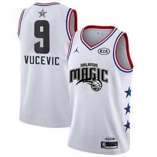 Men's Magic #9 Nikola Vucevic White Basketball Jordan Swingman 2019 All-Star Game Jersey