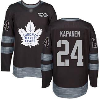 Men's Maple Leafs #24 Kasperi Kapanen Black 1917-2017 100th Anniversary Stitched Hockey Jersey