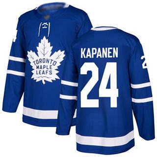 Men's Maple Leafs #24 Kasperi Kapanen Blue Home  Stitched Hockey Jersey