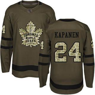 Men's Maple Leafs #24 Kasperi Kapanen Green Salute to Service Stitched Hockey Jersey
