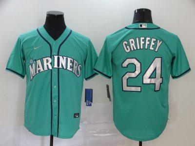 Men's Mariners #24 Ken Griffey Jr. Green 2020 Baseball Cool Base Jersey