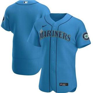 Men's Mariners Blank Light Blue 2020 Baseball Cool Base Jersey