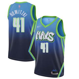 Men's Mavericks #41 Dirk Nowitzki Blue Basketball Swingman City Edition 2019-2020 Jersey