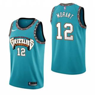 Men's Memphis Grizzlies #12 Ja Morant 1988-89 Retro Hardwood Classics Basketball Jersey