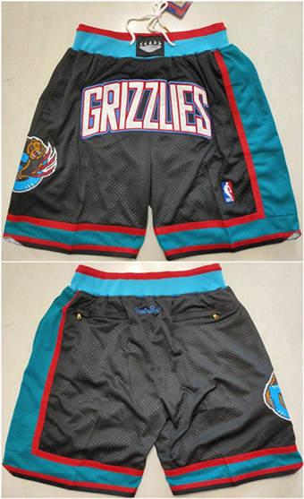 Men's Memphis Grizzlies Black Basketball Shorts (Run Small)