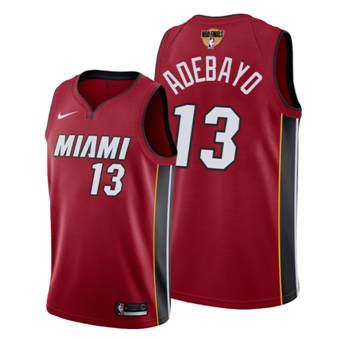 Men's Miami Heat #13 Bam Adebayo 2020 Red Finals Bound Association Edition Stitched Jersey