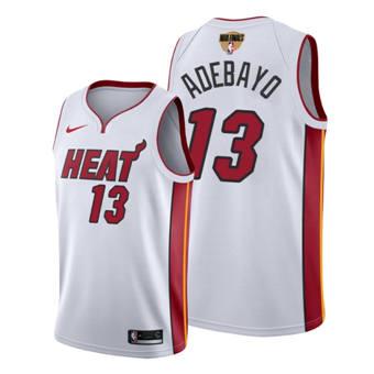 Men's Miami Heat #13 Bam Adebayo 2020 White Finals Bound Association Edition Stitched Jersey