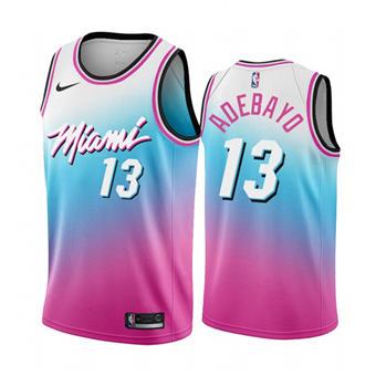 Men's Miami Heat #13 Bam Adebayo Blue Pick City Edition New Uniform 2020-21 Stitched Basketball Jersey