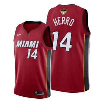 Men's Miami Heat #14 Tyler Herro Red 2020 Finals Bound Association Edition Stitched Jersey