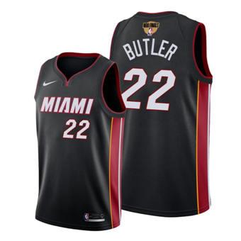 Men's Miami Heat #22 Jimmy Butler Black 2020 Finals Bound Association Edition Stitched Jersey