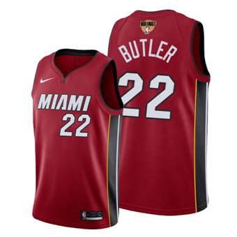 Men's Miami Heat #22 Jimmy Butler Red 2020 Finals Bound Association Edition Stitched Jersey