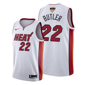Men's Miami Heat #22 Jimmy Butler White 2020 Finals Bound Association Edition Stitched Jersey