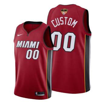 Men's Miami Heat Active Player 2020 Red Finals Bound Statement Edition Stitched Custom Jersey