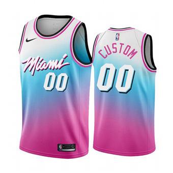 Men's Miami Heat Active Player Blue Pick City Edition New Uniform 2020-21 Custom Stitched Basketball Jersey