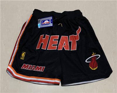 Men's Miami Heat Hardwood Classics Stitched Basketball Short 2