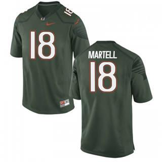 Men's Miami Hurricanes #18 Tate Martell Green NCAA Football Jersey