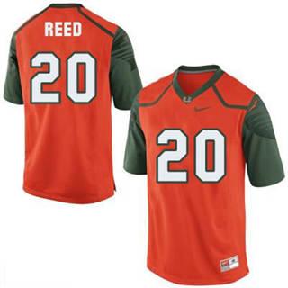 Men's Miami Hurricanes #20 Ed Reed Orange NCAA Football Jersey