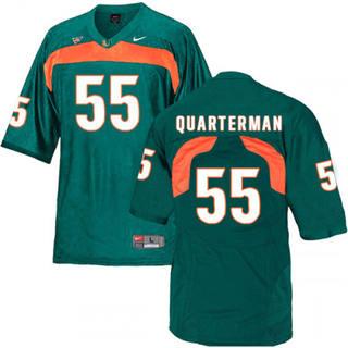 Men's Miami Hurricanes #55 Shaquille Quarterman Jersey Green NCAA