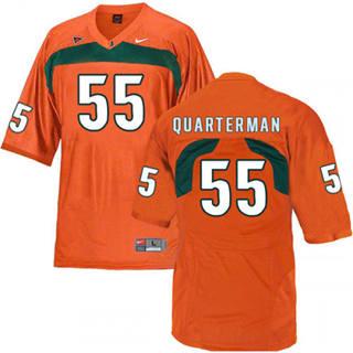 Men's Miami Hurricanes #55 Shaquille Quarterman Jersey Orange NCAA