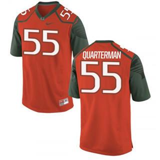 Men's Miami Hurricanes #55 Shaquille Quarterman Jersey Orange Sewn NCAA