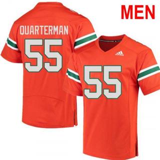 Men's Miami Hurricanes #55 Shaquille Quarterman Orange Football Jersey
