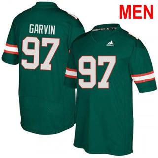 Men's Miami Hurricanes #97 Jonathan Garvin Green 2019 NCAA Football Jersey