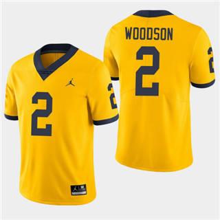 Men's Michigan Wolverines #2 Charles Woodson Yellow NCAA Football Jersey
